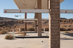 Abandoned gas station in the desert Royalty Free Stock Photography
