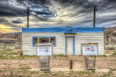 Abandoned Gas Station Royalty Free Stock Photo