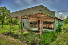 Abandoned Gas Station Niederwald Texas. Abandoned gas station photographed on the Niederwald Highway seen from the Back Roads of Texas royalty free stock photography