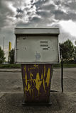 Abandoned gas station. Old and rusty gas station out of order Stock Image