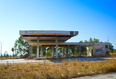Abandoned gas station Royalty Free Stock Photography