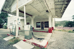 Abandoned gas station on route 66, USA Stock Photos