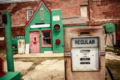Abandoned gasoline station on the Route 66 Stock Photos