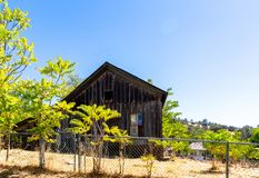 Abandoned and Gated Home in Coulterville California. Coulterville is a census-designated place in Mariposa County, California. It is located on Maxwell Creek 20 royalty free stock photo