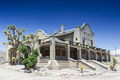 Abandoned Ghost City Rhyolite Former Train Station, NV Ghost Tow Royalty Free Stock Images