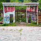 Ghost Town in Italy royalty free stock photo