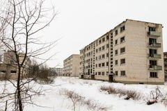 Abandoned ghost town Skrunda - 1. Ghost town and former Soviet radar station located 5 km (3 mi) to the north of Skrunda, in Ranki parish, Latvia Stock Image