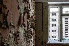 Abandoned ghost town Skrunda - 1. Ghost town and former Soviet radar station located 5 km (3 mi) to the north of Skrunda, in Ranki parish, Latvia Royalty Free Stock Image