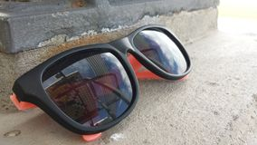 Abandoned glasses. A pair of abandoned sunglasses Royalty Free Stock Photos