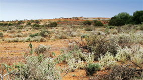 Abandoned gold mine in the Australian Outback stock footage