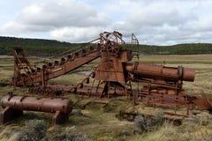 Abandoned gold mine at lake Lago Blanco. Royalty Free Stock Photo