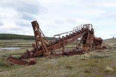 Abandoned gold mine at lake Lago Blanco. Royalty Free Stock Photos