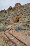 Abandoned Gold Mine in the Mojave Desert royalty free stock image