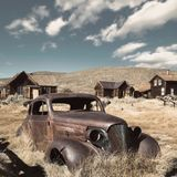 Abandoned car. Bodie ghost town. California royalty free stock image
