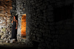 Abandoned Goth Girl Royalty Free Stock Images