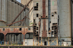 Abandoned Grain Elevator. An abandoned grain elevator in Buffalo New York Royalty Free Stock Images