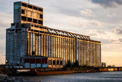 Abandoned Grain Elevator. Photograph of an abandoned grain elevator located in Buffalo New York Stock Photos