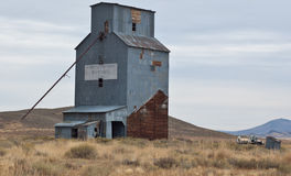 Abandoned Grain Elevator. In Idaho foothills Stock Image