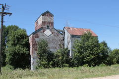 An Abandoned Grain Elevator and Feed Mill Royalty Free Stock Images
