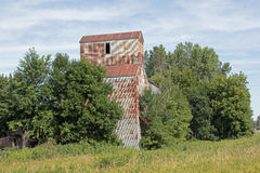 An Abandoned Grain Elevator and Feed Mill Royalty Free Stock Photography