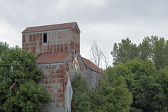An Abandoned Grain Elevator and Feed Mill Stock Photos
