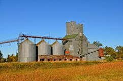 Abandoned Grain Elevator System Royalty Free Stock Image
