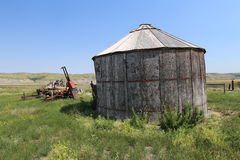 Abandoned grain storage Royalty Free Stock Images
