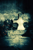 Abandoned grave at  old cemetery. Death concept Royalty Free Stock Photography