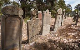 Abandoned graves, Isle of the Dead, Tasmania Royalty Free Stock Photos