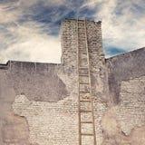Abandoned grunge cracked brick stucco wall Royalty Free Stock Images