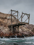 Abandoned guano loading stand in Ballestas islands Royalty Free Stock Image
