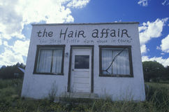 An abandoned hair salon Royalty Free Stock Images