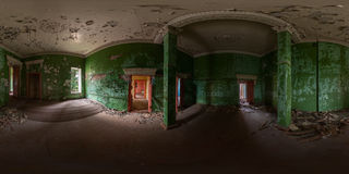 Abandoned hall panorama Royalty Free Stock Photo