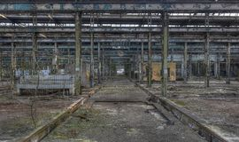 Abandoned hall, several images available Royalty Free Stock Photos
