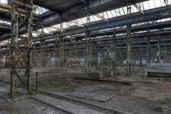 Abandoned hall, several images available Royalty Free Stock Photography