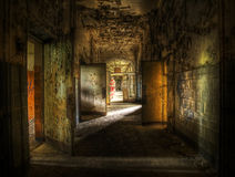 Abandoned Hallway Royalty Free Stock Photos