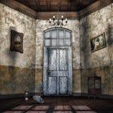 Abandoned hallway Stock Image