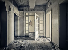 Abandoned hallway Stock Images