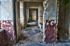 Abandoned hallway in HDR Royalty Free Stock Images