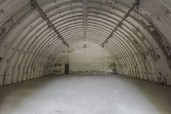 Abandoned hangar in airport royalty free stock photo