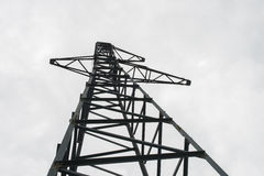 Abandoned high-voltage. Abandoned high-voltage mast without wires. Russia Royalty Free Stock Photography