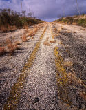 Abandoned Highway. An abandoned highway in West Texas Stock Image