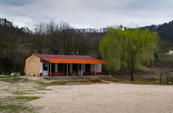 Abandoned highway restaurant, Turkey Royalty Free Stock Images