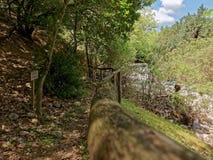 Abandoned Hiking Trail at Aposelemi Gorge on Crete Royalty Free Stock Images