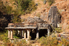 Abandoned hindu temple Stock Photo