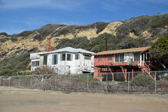 Empty, historic homes in the Crystal Cove State Park, Southern California. Royalty Free Stock Images
