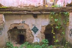 Abandoned historic jail Stock Photo