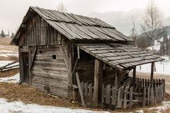 Abandoned historic old wooden water mill house Stock Photography
