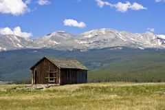 Abandoned Home at Base of Mt. Massive. Abandoned home at base of Mount Massive in Leadville, Colorado, United States Royalty Free Stock Photo