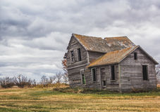 Abandoned home. On the canadian prairies Stock Photography